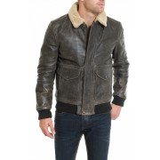 Sp Winter Bomber Leather Jacket