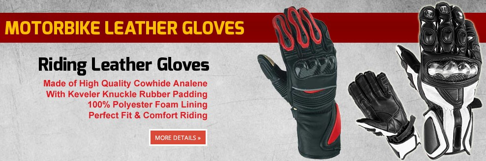 MOTORBIKE LEATHER GLOVES