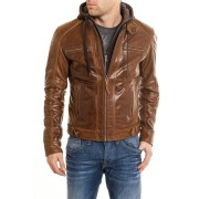 Sp Hoodies Leather Jacket